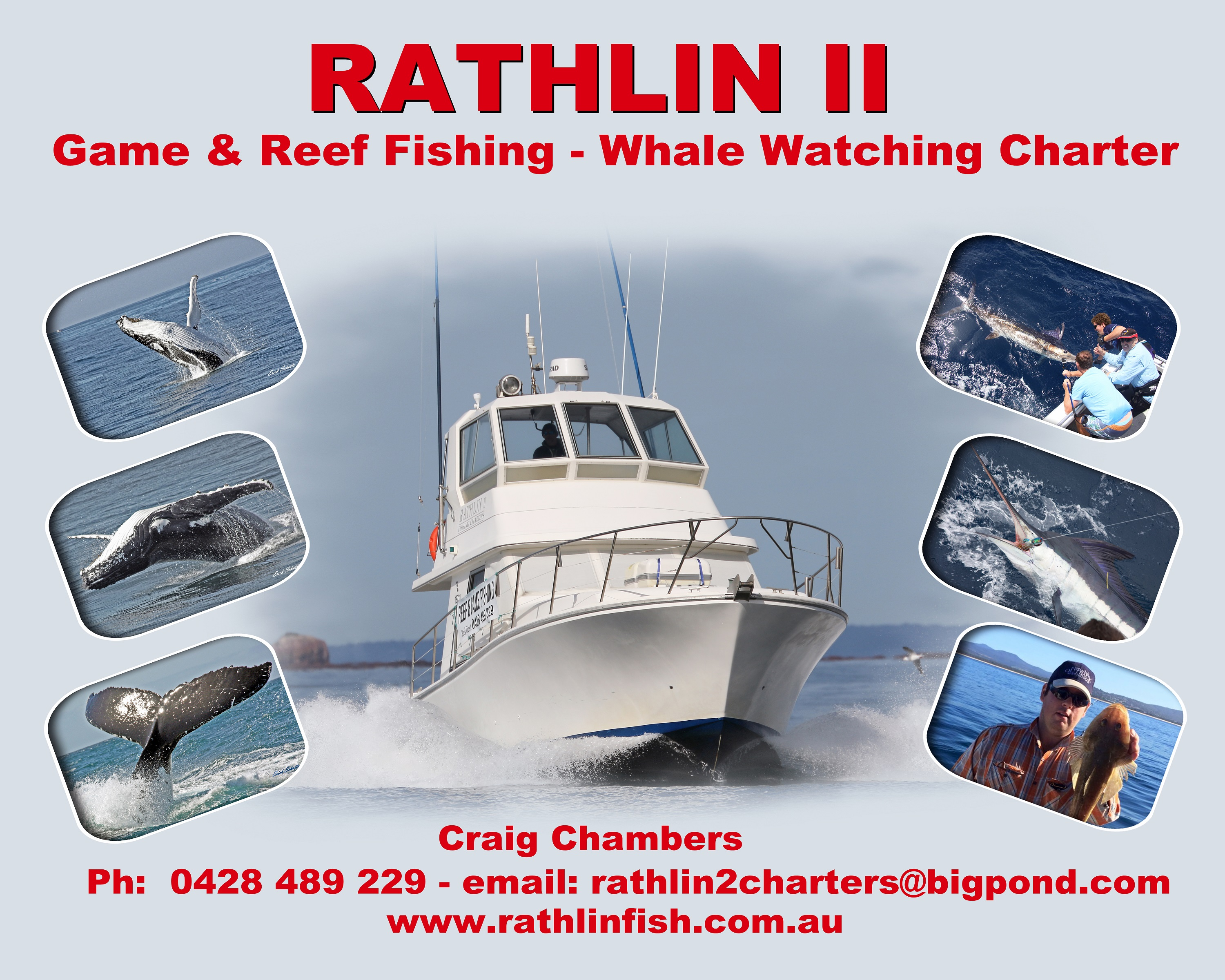 Rathlin II Game fishing Reef fishing whale watching charter Merimbula Sapphire Coast NSW
